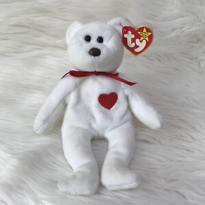 e5123071102 Ty Beanie Baby Valentino 4058 Teddy Bear Brown Nose With Tag Errors ...