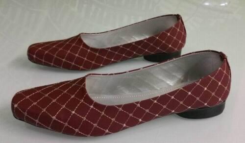 SHUMAXX Ladies Women Criss Cross Maroon Textured Heels Party Office Shoes 0126M