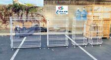 New 5 Layer Tier White Wire Grid Retail Shelving Shelf Merchandise Display