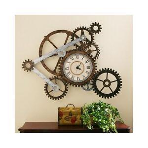 Reloj pared r stico industrial escultura engranajes for Reloj pared estilo industrial