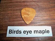"Wood guitar pick ""Birds eye Maple""  by RobinsonWood Picks"