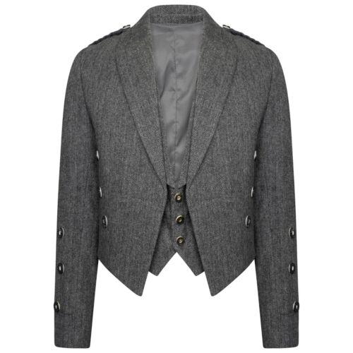Tweed Crail Highland principe Charlie Kilt giacca e gilet Scottish tutte le taglie