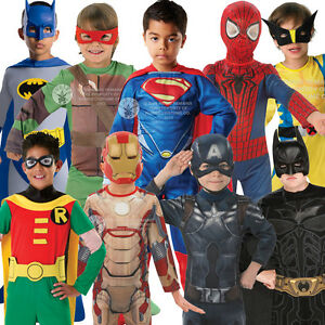 Image is loading Boys-Superhero-Comic-Book-Halloween-Kids-Childrens-Fancy-  sc 1 st  eBay & Boys Superhero Comic Book Halloween Kids Childrens Fancy Dress ...
