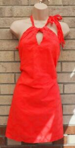 Habia-hecho-en-Grecia-Rosa-Rojo-con-Cinturon-Vestido-cenido-de-bodycon-cuello-de-playa-de-algodon-8