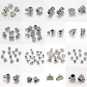 300pcs Tibetan Silver Connectors Spacer Bail Beads Charms Jewelry Findings