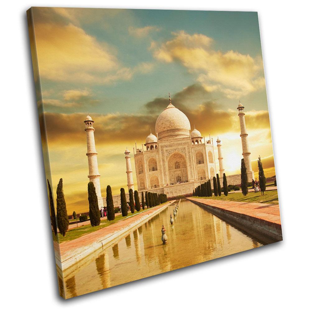 Taj Mahal Indian India Hindu Canvas Art Picture Print Decorative Photo Wall