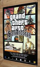 2005 GTA Grand Theft Auto San Andreas rare promo Poster 84x59cm