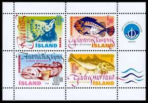 AgréAble Islande 1998 Poissons, Lumpsucker, Morue, Wolf-fish & Skate Minisheet, Neuf Sans Charnière/hank