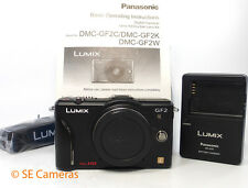 PANASONIC LUMIX GF2 CAMERA BODY ONLY (BLACK) NEAR MINT CONDITION