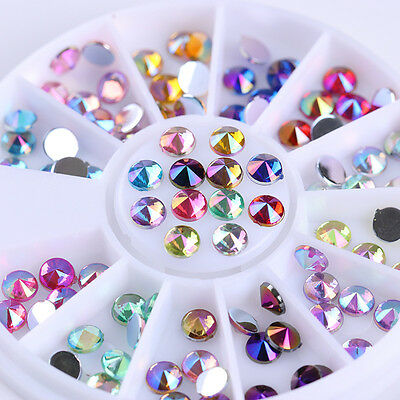 Colorful Shining Rhinestone 3D Nail Decoration Sharp Studs Top for UV Gel Nails