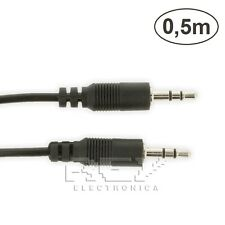 CABLE Doble MINI JACK Macho 3,5mm Audio Estéreo 0,5 Metros v109