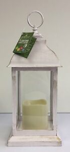 Crown-Crest-Large-White-Rustic-Battery-Operated-Flickering-Candle-Lantern-Luxu