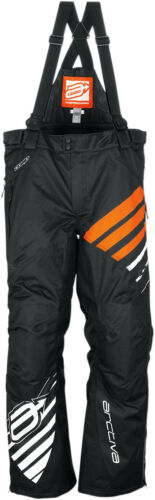 Arctiva Snow Snowmobile Women/'s COMP Insulated Bibs//Pants Black//Orange