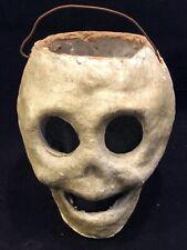 Rare Antique American Pulp Halloween Skeleton Lantern