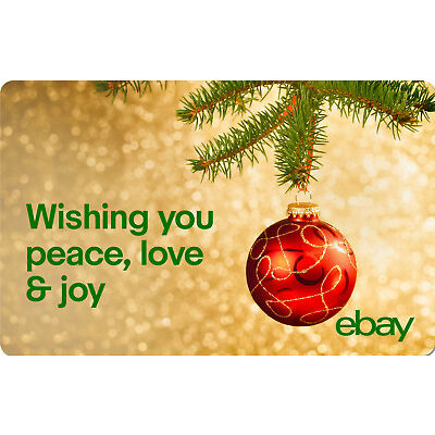 Peace, Love & Joy eBay Digital Gift Card - $25 to $200 - Fast Email Delivery