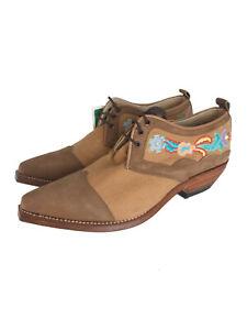 Vintage Boots El Low avec broderie 1740 Charro 1qEwEFf