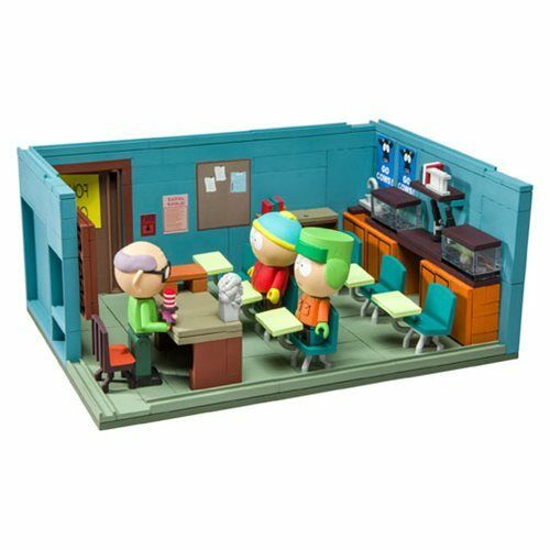 South Park Mr. Garrison Kyle and Cartman with the Classroom Large Construction