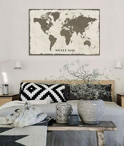 3d black world map 628 wall stickers vinyl murals wall print decal image is loading 3d black world map 628 wall stickers vinyl publicscrutiny Choice Image