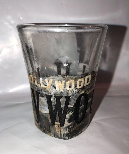 Hollywood Shot Glass Square bottom capital records rare shotglass
