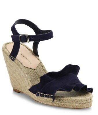 85a1ecb997b NEW Loeffler Randall Gabby Ruffle Suede Espadrille Wedge Sandals | eBay