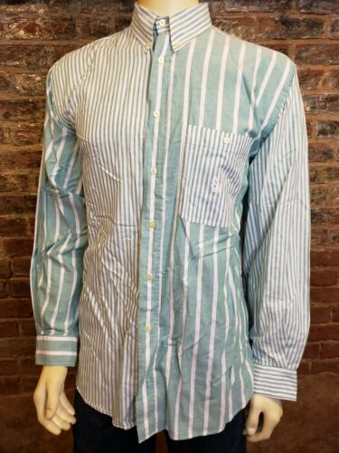 Nautica Vtg LS Button Up Shirt Seaford Green White