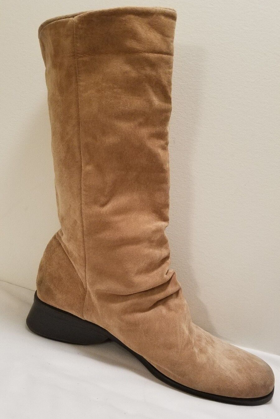 """Markon women's soft suede boots size 11M  mid calf """"simone"""" style brown"""