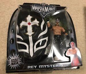 Wwe Wm 22 Masqué Rey Mysterio Avec Masque Noir & Figure Wwf Jakks Pacific Tru Excl