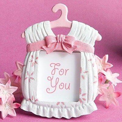 30 Baby Girl White & Pink Jumper Frames Shower, Christening Party Gift Favors
