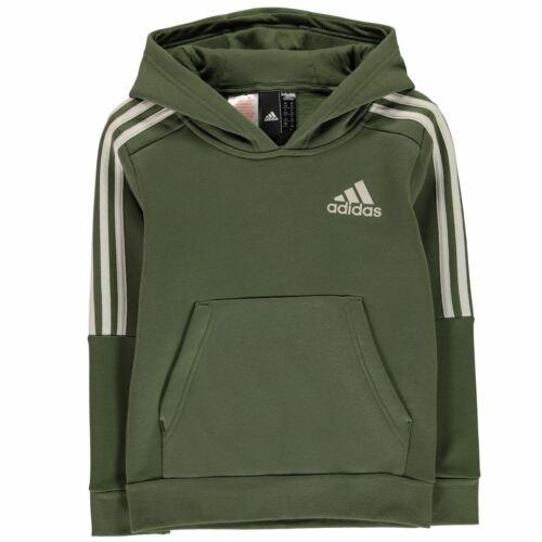 adidas Kids Boys 3S Logo OTH Hoodie Junior Hoody Hooded Top Stripe