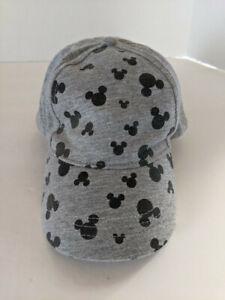Disney Mickey Mouse Kids Ball Cap - Grey/Black Silhouette - Adjustable