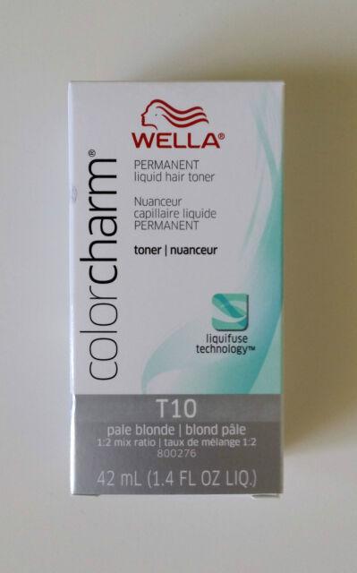 Wella Color Charm T10 Pale Blonde Permanent Liquid Hair Toner Colour