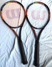 (2) Wilson Burn 100 Tennis Rackets - STRUNG - BARELY USED - 16 x 19