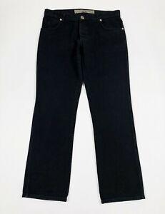 Bryan-husky-jeans-uomo-usato-gamba-dritta-W38-tg-52-denim-nero-boyfriend-T6237