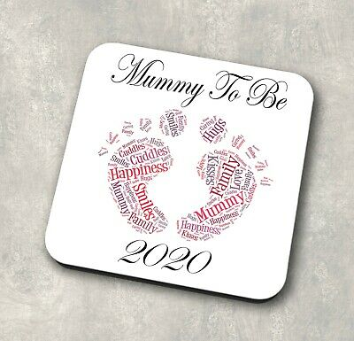 MTB20 Mummy To Be Coaster Gift Baby Thank You Best Mum Mom Mothers Day