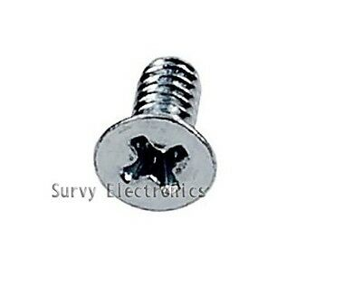 100Pcs M3 Screw M3x6 Diameter 3mm Length 6mm Stainless Steel DIY (Flat Head)