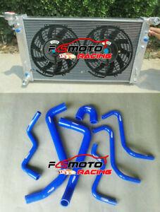 BLUE-HOSE-ALU-Radiator-FANS-For-Holden-Commodore-VT-VU-VX-HSV-3-8L-V6-97-02-AT