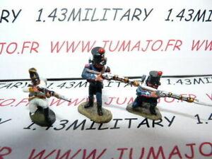 SOLDAT-de-plomb-DEL-PRADO-1-50-AUSTERLITZ-Napoleon-lot-n-15-3-soldats