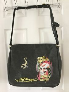 Image is loading Ed-Hardy-Messenger-Canvas-Bag-Unisex 9fd9ccbc79587