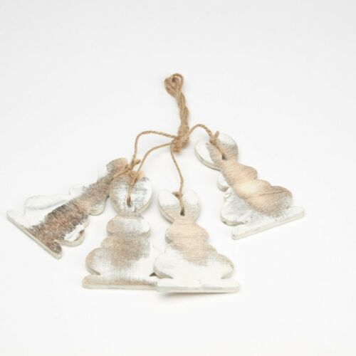 8CM 4 RABBITS PER HANGER FLORAL SKU 41-00613 WOODEN RABBIT HANGER FROM OASIS