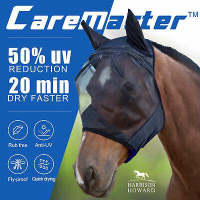 Harrison Howard horse Fly Mask Hood Half Face mesh Fleece padded Anti-UV Free PP