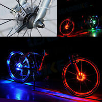 Bicycle Bike Front Tail Hubs Light Tire Led Spoke Wheel Warning Caution Light