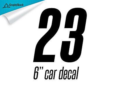 "Racing Numbers 6"" Number 0 1 2 3 4 5 6 7 8 9 Car Decal Vinyl Sticker Decals Bike"