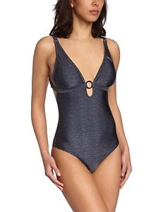 PUMA-CATS-Swimsuit-Swimming-Costume-Sport-amp-Leisure-Grey-Anthracite-Soft-Cups-36