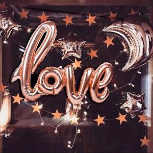 Romantique-42-034-Love-Or-Rose-Feuille-Ballon-Anniversaire-Mariage-Decorations-de-fete