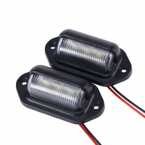 2-tlg-Universal-LED-Kennzeichen-Beleuchtung-Nummernschildbeleuchtung