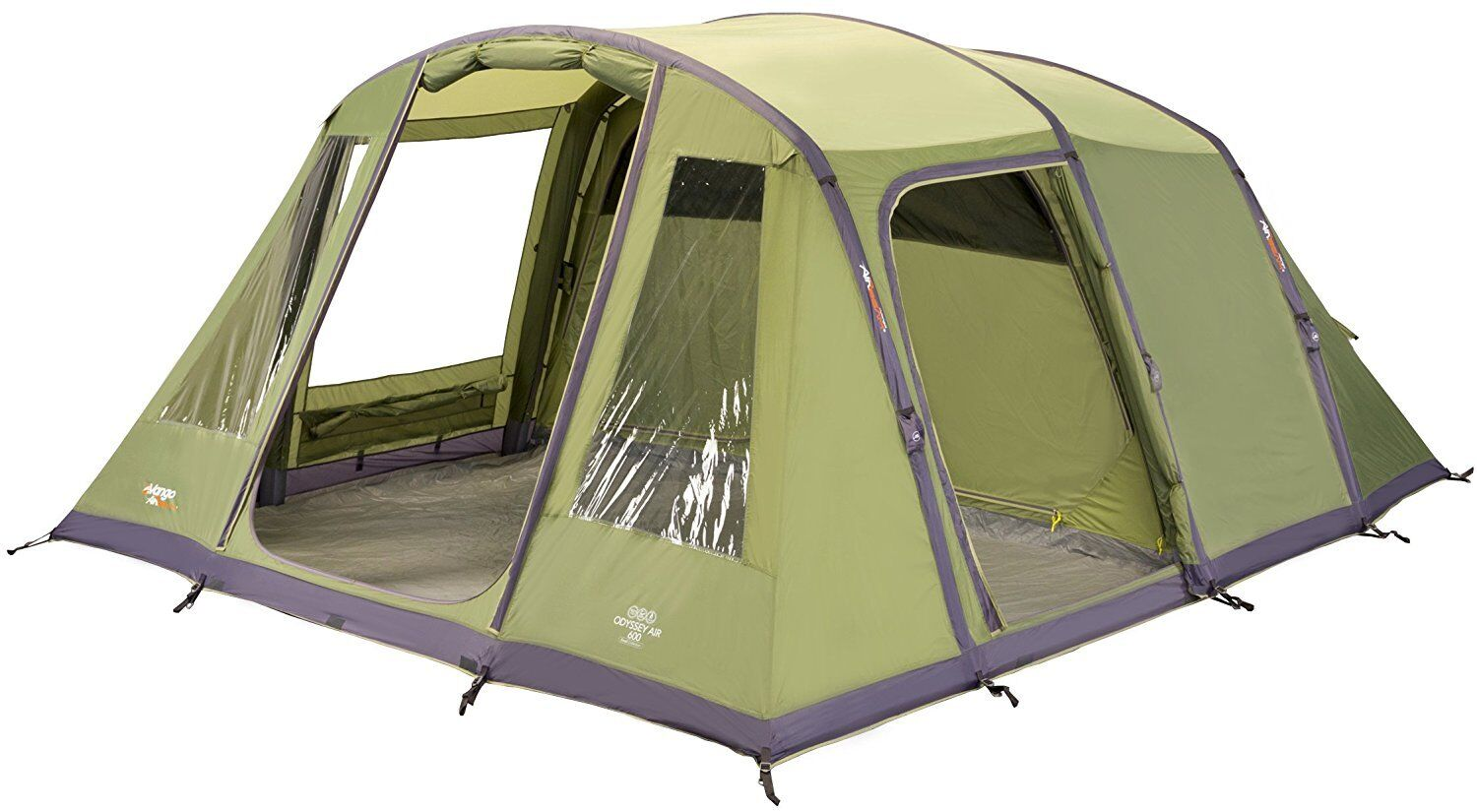 Vango Odyssey gonflable famille tente tunnel, Epsom vert, Airbeam 600.