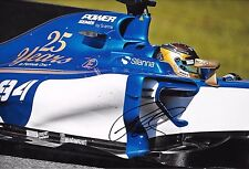 Pascal Wehrlein SIGNED 12x8  Sauber-Ferrari C36  F1 Test Barcelona 2016