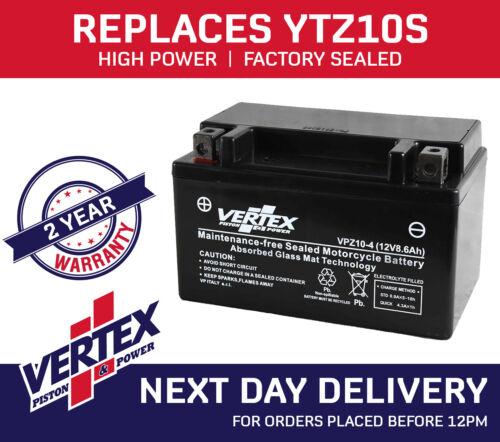 WK Bikes 125 Sport Vertex Battery VPZ10-4 Replaces YTZ10S CTZ10S YTZ10-BS
