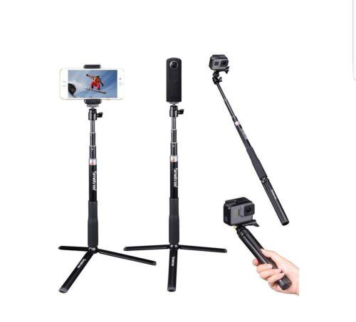 Smatree smapole Q3S Estensione Telescopica Selfie Bastone Con Supporto Treppiede per GoPro Hero