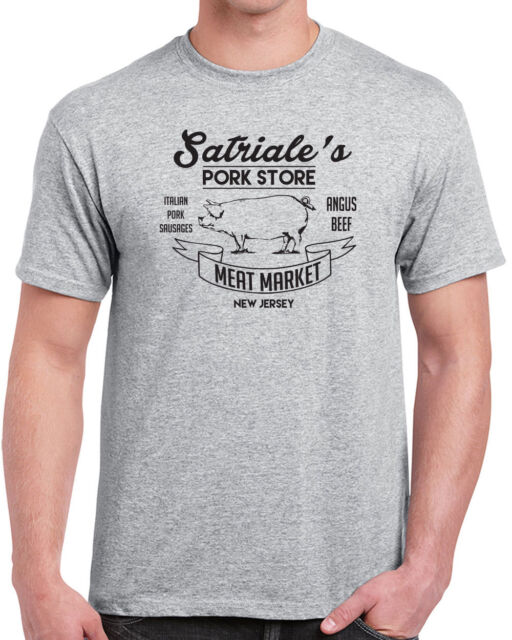 The Sopranos T-shirt Satriales pork store New Jersey gangster mobster TV Tony